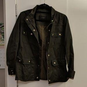 JCrew dark green utility jacket.